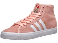 Adidas Nakel Matchcourt High RX Shoes Coral/White