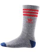 Adidas Roller Crew Socks Grey/Scarlet/Blue