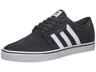Adidas Seeley Shoes Black/White/Black Suede