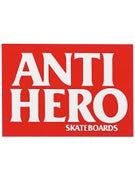Anti Hero Blackhero Sticker MD Red/White