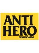 Anti Hero Blackhero Sticker MD Yellow/Black