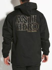 Anti Hero Black Hero Hooded Waterproof Coaches Jacket