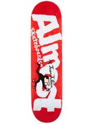 Almost x Jean Jullien Logo Red/White Deck  8.125 x 31.7