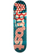 Almost Polka Dot Crunch Teal/Red Deck  7.75 x 31.1