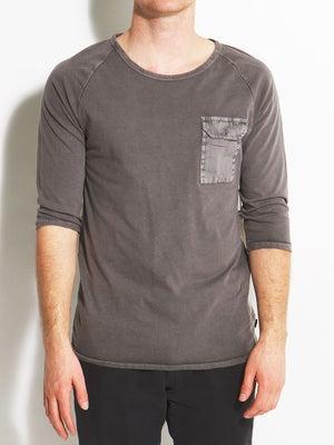 Ambig Niels Knit 3/4 Sleeve Shirt Charcoal XXL
