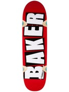Baker Brand Logo Cruiser Red/White Deck  8.5 x 32