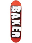 Baker Brand Logo Red Foil Deck 8.25 x 31.875