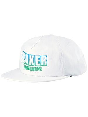 Baker Brand Logo Snapback Hat Adj White