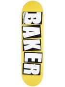 Baker Brand Logo Mustard/White Deck  8.38 x 32