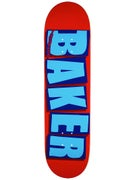 Baker Brand Logo Red/Blue Deck  8.25 x 31.875