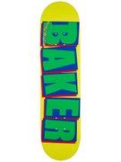 Baker Brand Logo Yellow/Green Deck  8.0 x 31.5