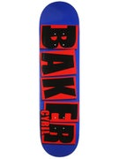 Baker Jackson Brand Name Navy/Red Deck  8.125 x 31.25
