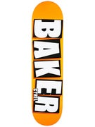 Baker Jackson Brand Name Neon Orange Deck  8.0 x 31.5