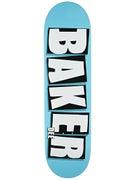 Baker Dee Brand Name Neon Blue Deck  8.475 x 31.875