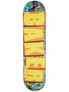 Baker Hawk Brand Name Ylw/Psychedelic Deck 7.75 x 31.25