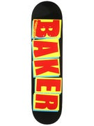 Baker Brand Logo Black/Red/Yellow Deck  8.0 x 31.5