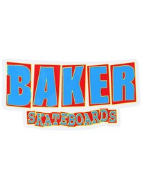 Baker Logo Stickers Bold Blue