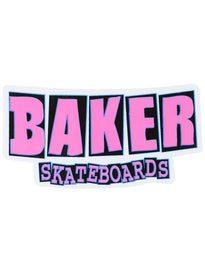 Baker Logo Stickers Bold Pink
