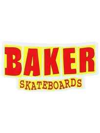 Baker Logo Stickers Bold Red