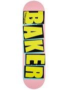 Baker Brand Logo Pink/Yellow Deck  7.875 x 31.25