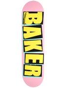 Baker Brand Logo Pink/Yellow Deck  8.25 x 31.875