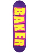 Baker Brand Logo Purple/Yellow Deck  8.475 x 31.875