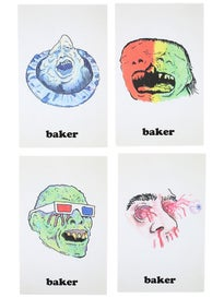 Baker Monster Stickers 4 Pack