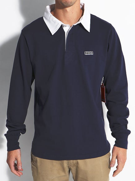 Baker Pile Rugby L/S Polo Shirt