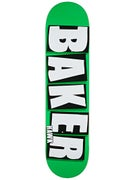 Baker Hawk Brand Name Neon Green Deck  7.75 x 31.25