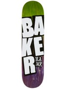 Baker Hawk Stacked Name Deck 8.125 x 31.75