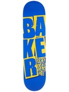 Baker Stacked Blue/Yellow Deck  7.75 x 31.25