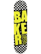 Baker Stacked Checkered/Neon Deck  7.75 x 31.25