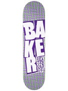 Baker Stacked Chill Wave Purp/Green Deck 7.875 x 31.25