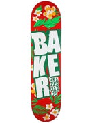 Baker Stacked Floral Red Deck  8.0 x 31.5