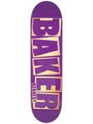 Baker Kennedy Brand Name Purp/Gold Deck  8.25 x 31.875