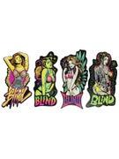 Blind UV Girls Stickers 4 Pack