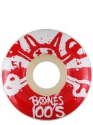 Bones 100's #10 Wheels White