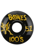 Bones 100's #9 Black Wheels