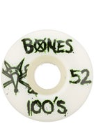 Bones 100's #9 Even Wheels White