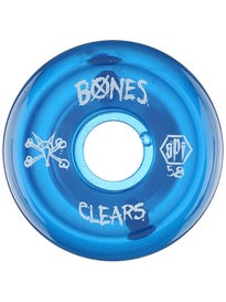 Bones SPF Clear Blue Wheels