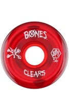 Bones SPF Clear Red Wheels