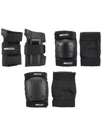 Bullet Adult Safety Set (knee/elbow/wrist) Black