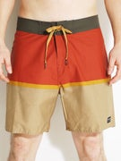 Brixton Beacon Boardshorts  Charcoal/Rust