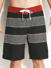 Brixton Barge Trunks  Black/Red