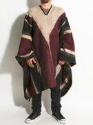 Brixton Barry Poncho Blanket  Bone/Black