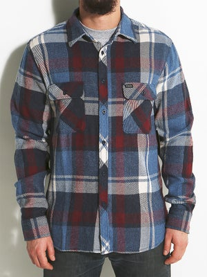 Brixton Bowery Flannel MD Blue/Burgundy
