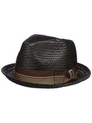 Brixton Castor Fedora Hat Black/Brown XL