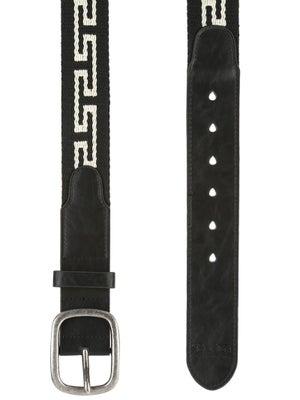 Brixton Course Belt Black/Cream LG/XL