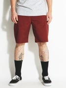 Brixton Carter Shorts  Burgundy
