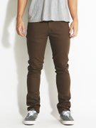 Brixton Grain 5 Pocket Twill Pants  Brown
